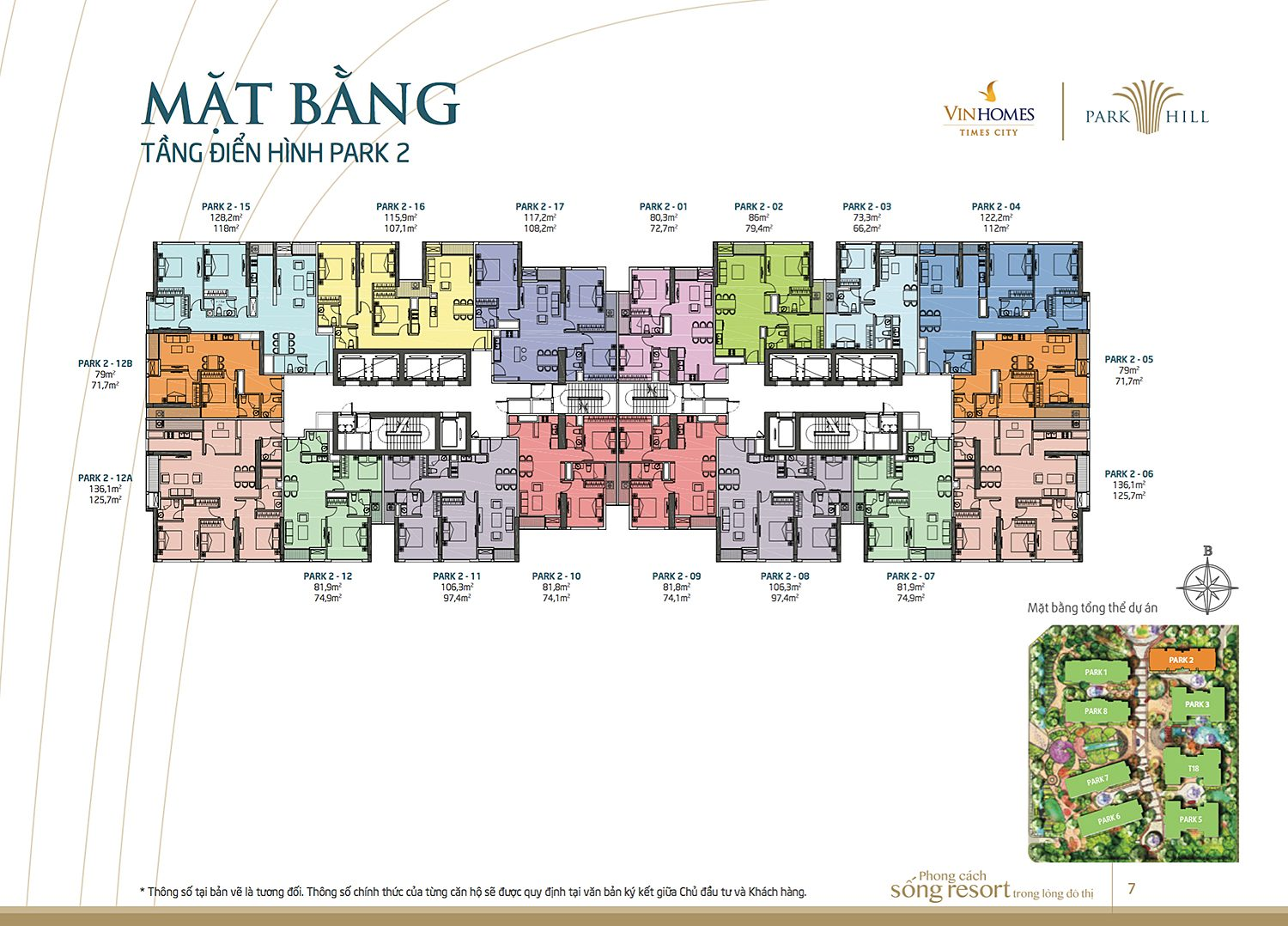 Mat bang Times City Park 2
