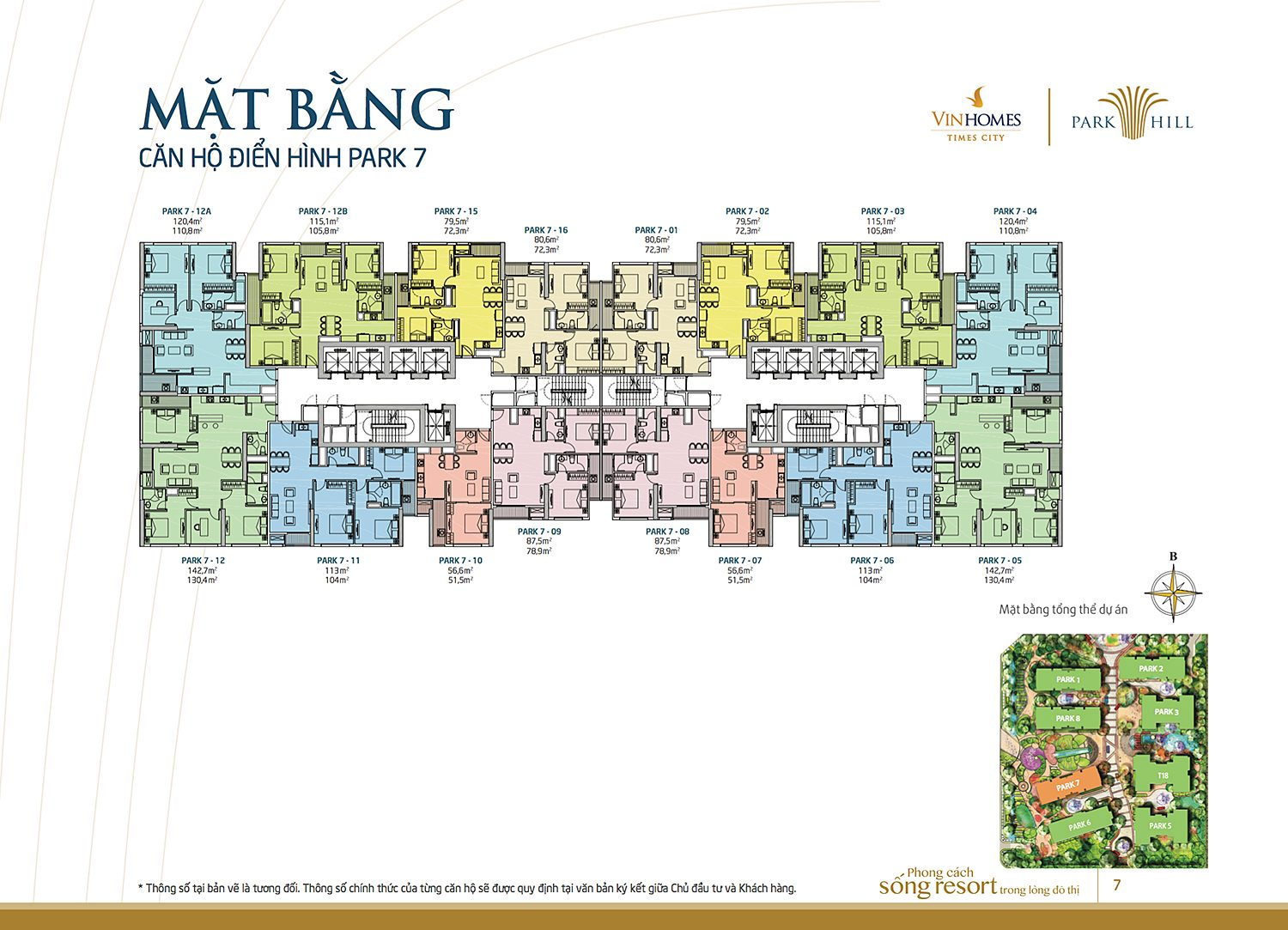 Mat bang vinhomes times city park hill 7