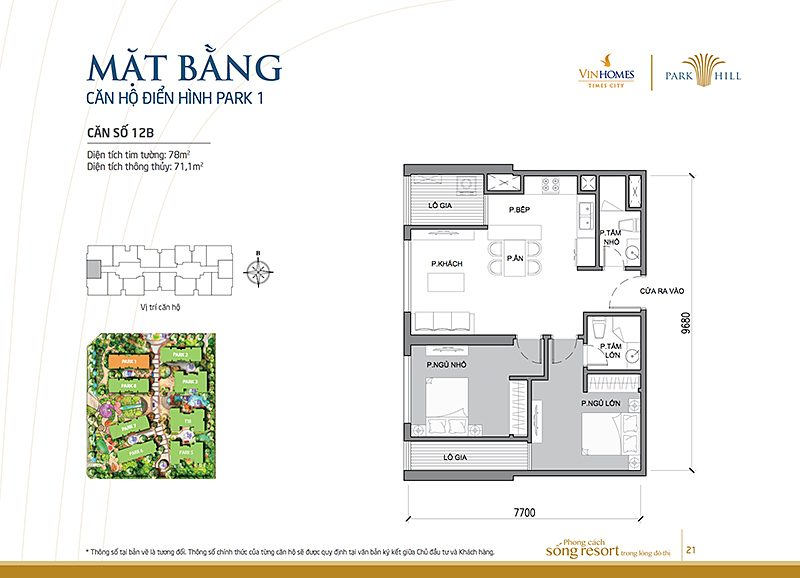 Vinhomes Times City Park 1 can 12b