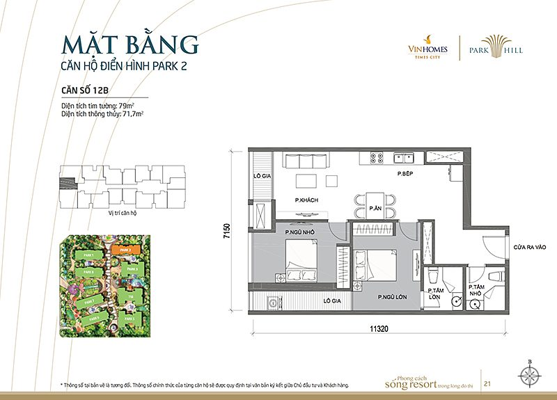 Vinhomes Times City Park 2 can 12b