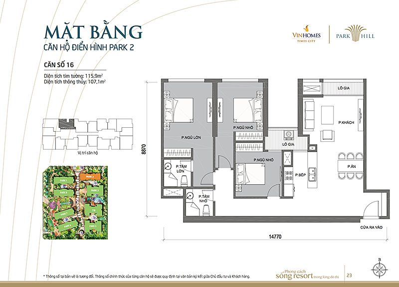 Vinhomes Times City Park 2 can 16