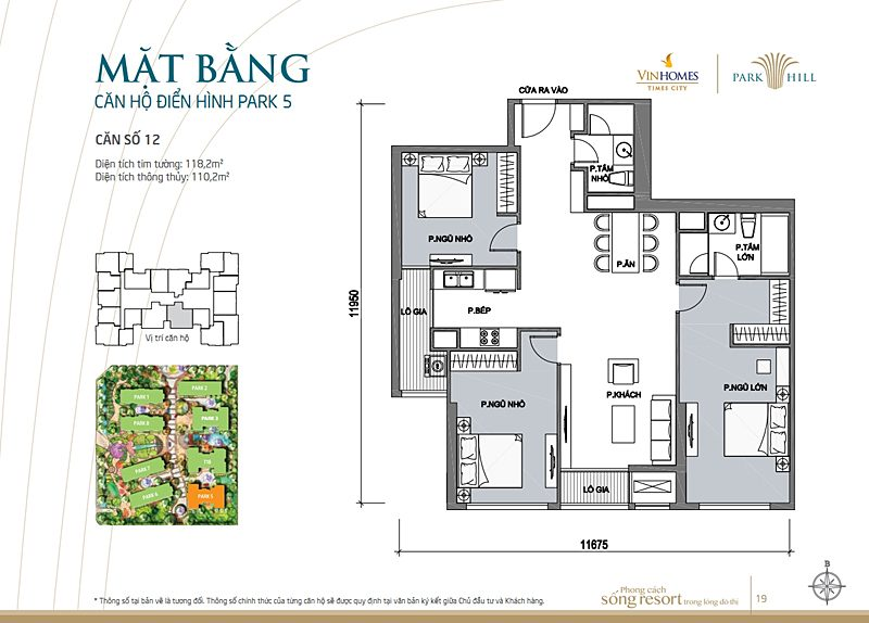 Vinhomes times city park 5 can 12