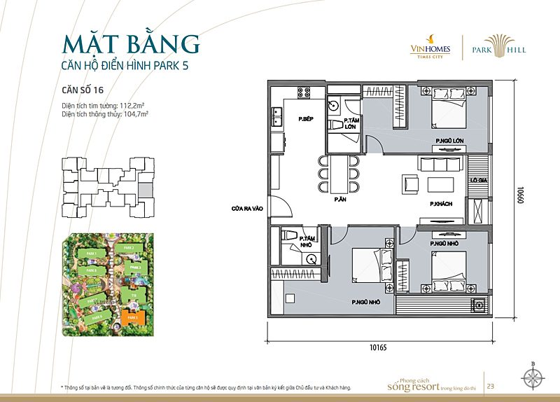 Vinhomes times city park 5 can 16