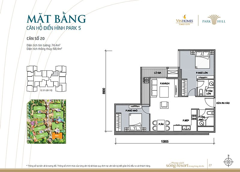 Vinhomes times city park 5 can 20