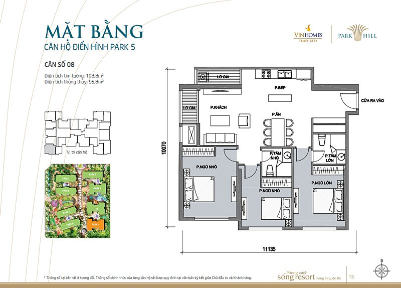Vinhomes times city park 5 can 8